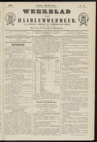 Weekblad van Haarlemmermeer 1882-12-22