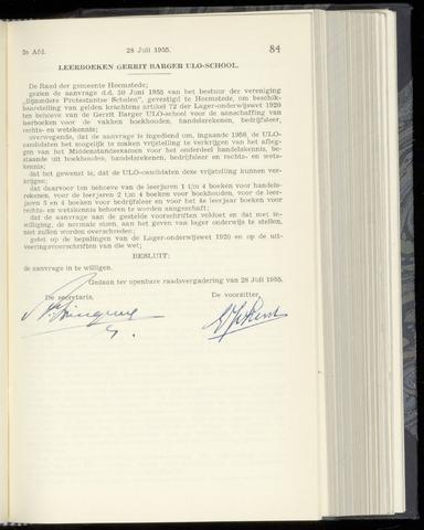 Raadsnotulen Heemstede 1955-07-28