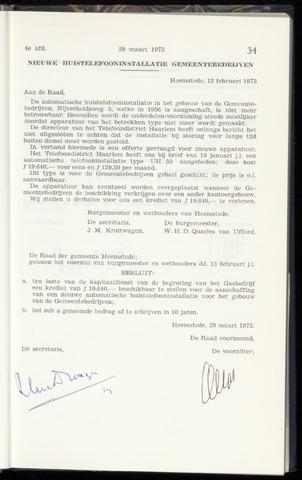 Raadsnotulen Heemstede 1973-03-29