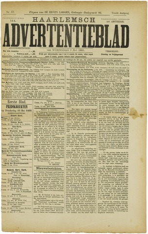 Haarlemsch Advertentieblad 1888-05-09