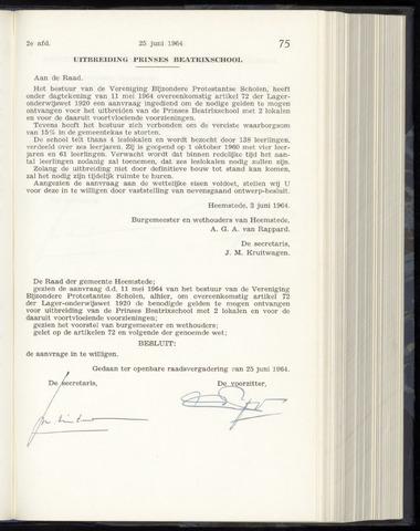 Raadsnotulen Heemstede 1964-06-25