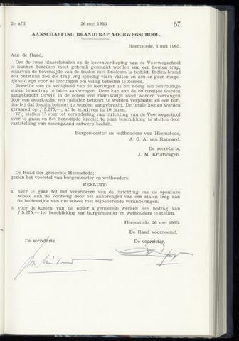 Raadsnotulen Heemstede 1965-05-26