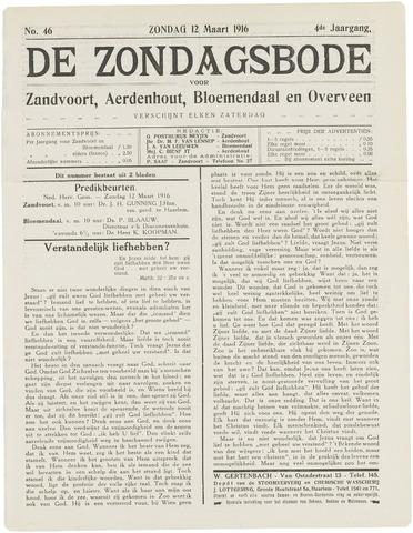 De Zondagsbode voor Zandvoort en Aerdenhout 1916-03-12