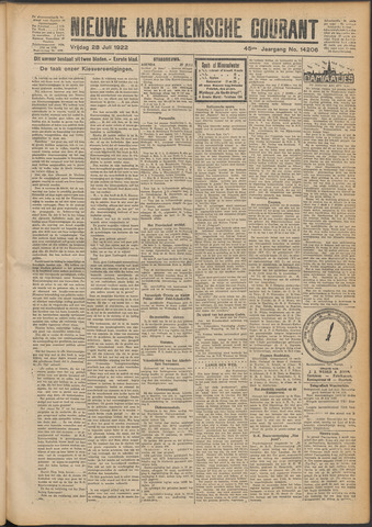 Nieuwe Haarlemsche Courant 1922-07-28