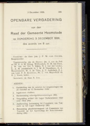 Raadsnotulen Heemstede 1936-12-03