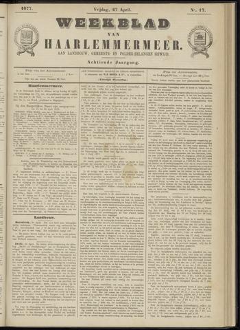 Weekblad van Haarlemmermeer 1877-04-27