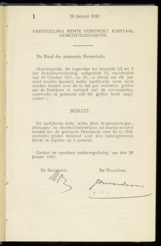 Raadsnotulen Heemstede 1932-01-28
