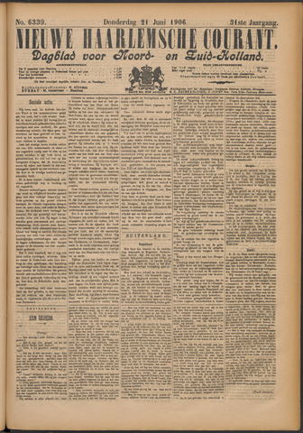 Nieuwe Haarlemsche Courant 1906-06-21