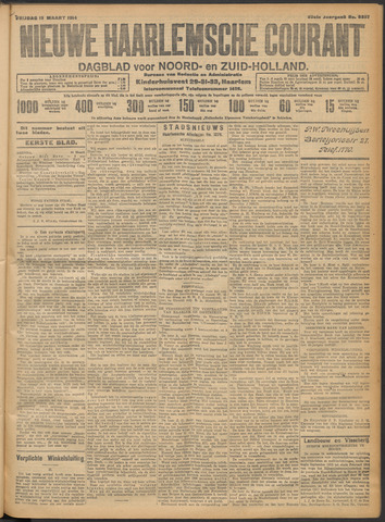 Nieuwe Haarlemsche Courant 1914-03-13