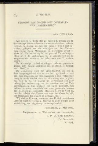 Raadsnotulen Heemstede 1937-05-27
