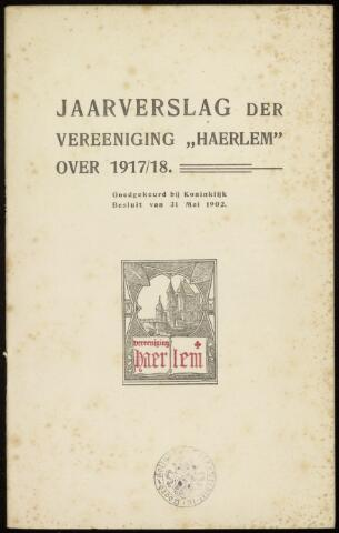 Jaarverslagen en Jaarboeken Vereniging Haerlem 1917