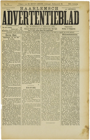 Haarlemsch Advertentieblad 1889-09-11