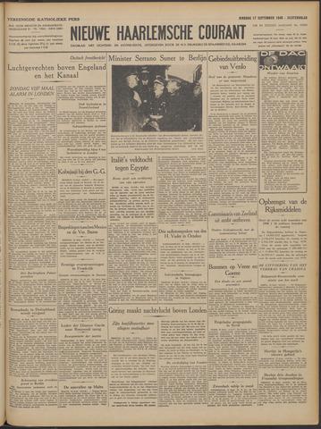 Nieuwe Haarlemsche Courant 1940-09-17
