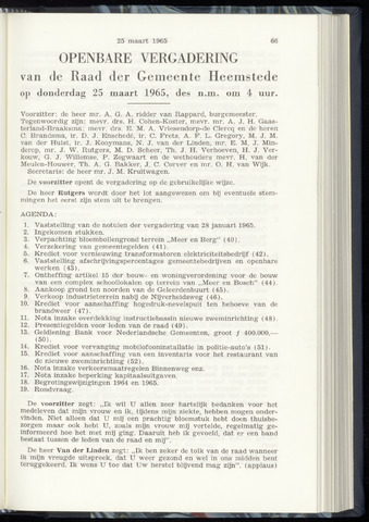 Raadsnotulen Heemstede 1965-03-25