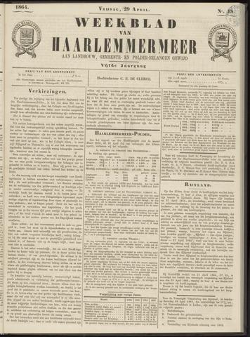 Weekblad van Haarlemmermeer 1864-04-29