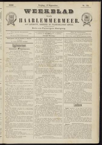 Weekblad van Haarlemmermeer 1882-09-01