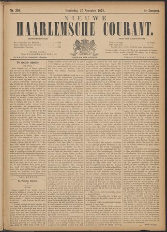 Nieuwe Haarlemsche Courant 1879-11-27