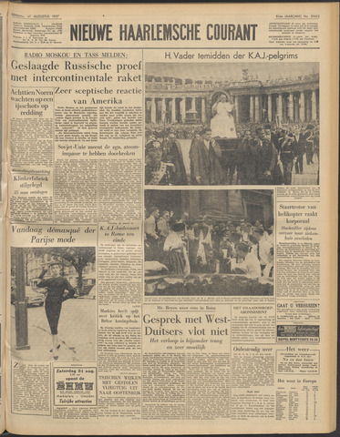 Nieuwe Haarlemsche Courant 1957-08-27