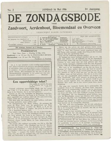 De Zondagsbode voor Zandvoort en Aerdenhout 1916-05-14