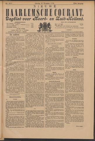 Nieuwe Haarlemsche Courant 1898-11-26