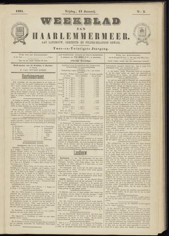 Weekblad van Haarlemmermeer 1881-01-14