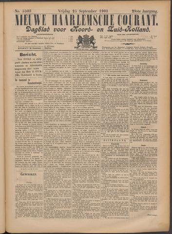 Nieuwe Haarlemsche Courant 1903-09-25