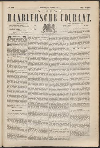 Nieuwe Haarlemsche Courant 1885-01-22