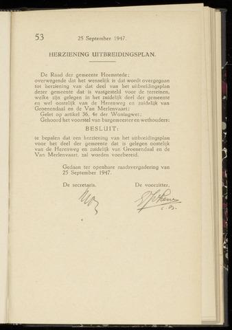Raadsnotulen Heemstede 1947-09-25