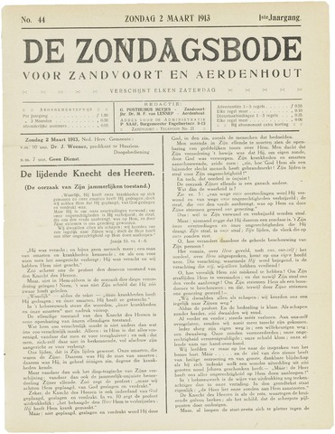 De Zondagsbode voor Zandvoort en Aerdenhout 1913-03-02