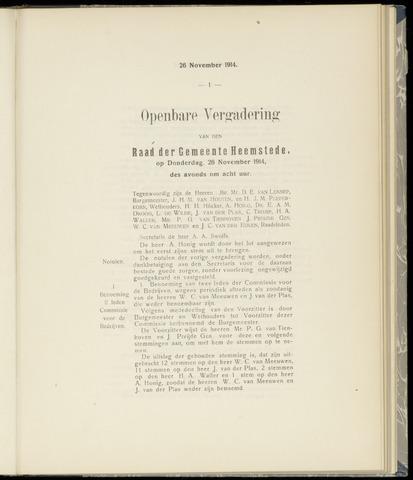 Raadsnotulen Heemstede 1914-11-26
