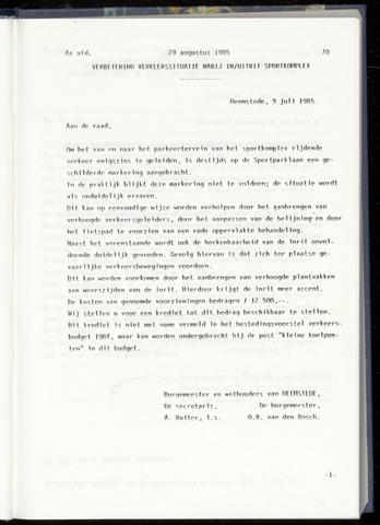 Raadsnotulen Heemstede 1985-08-29