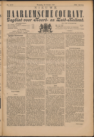 Nieuwe Haarlemsche Courant 1898-10-26