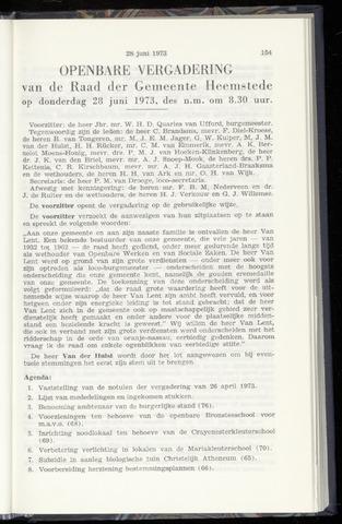 Raadsnotulen Heemstede 1973-06-28