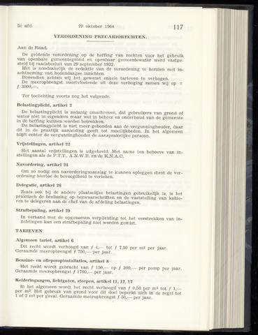 Raadsnotulen Heemstede 1964-10-29