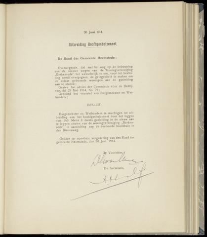 Raadsnotulen Heemstede 1914-06-30
