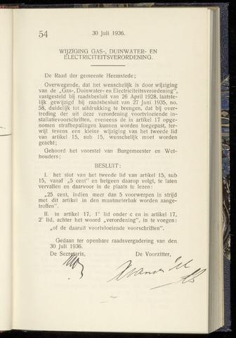 Raadsnotulen Heemstede 1936-07-30