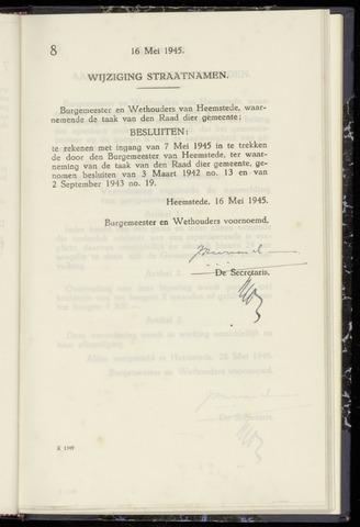 Raadsnotulen Heemstede 1945-05-16