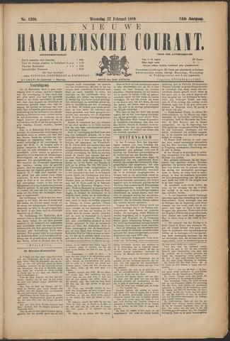Nieuwe Haarlemsche Courant 1889-02-27