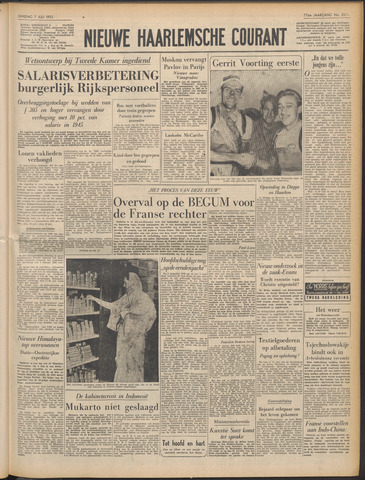 Nieuwe Haarlemsche Courant 1953-07-07