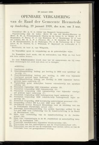 Raadsnotulen Heemstede 1959-01-29