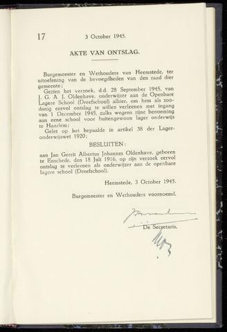 Raadsnotulen Heemstede 1945-10-03
