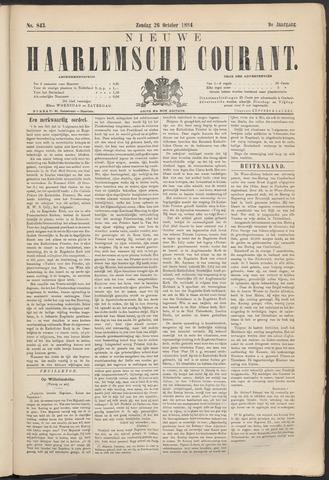 Nieuwe Haarlemsche Courant 1884-10-26