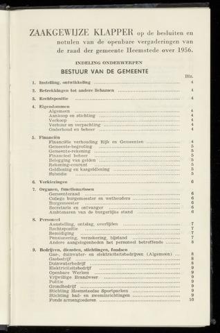 Raadsnotulen Heemstede 1956-01-01