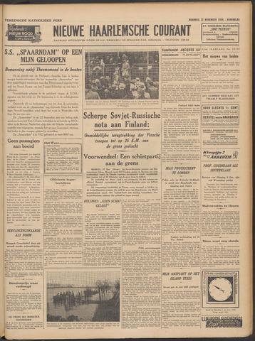 Nieuwe Haarlemsche Courant 1939-11-27