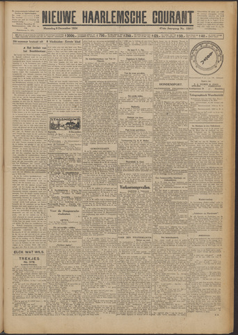 Nieuwe Haarlemsche Courant 1924-12-08