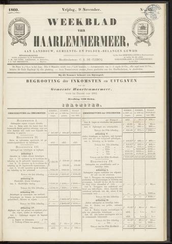 Weekblad van Haarlemmermeer 1860-11-09