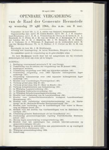 Raadsnotulen Heemstede 1964-04-29