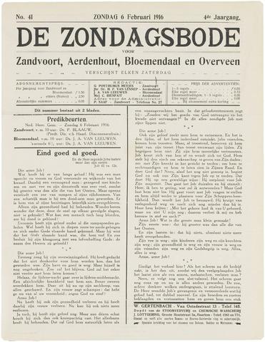 De Zondagsbode voor Zandvoort en Aerdenhout 1916-02-06