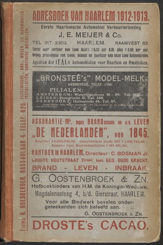 Adresboeken Haarlem 1912