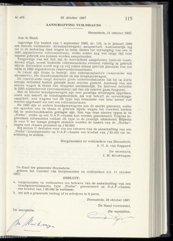 Raadsnotulen Heemstede 1967-10-26